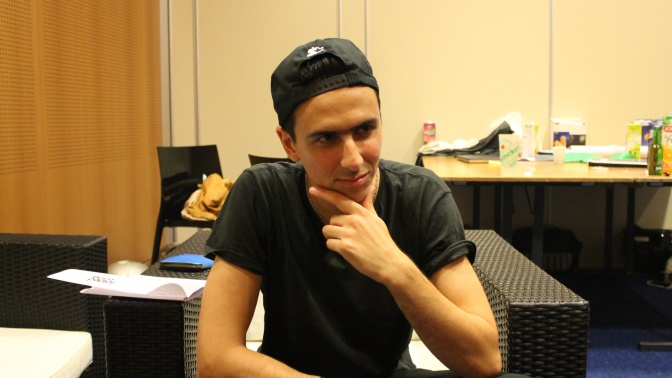 Boys Noize backstage at Reverie