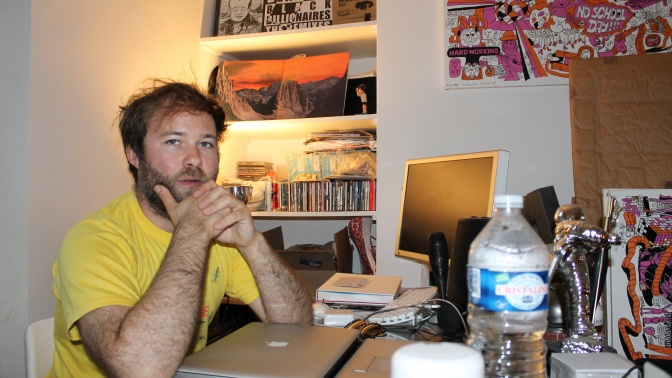 So-Me at his desk in the Ed Banger office