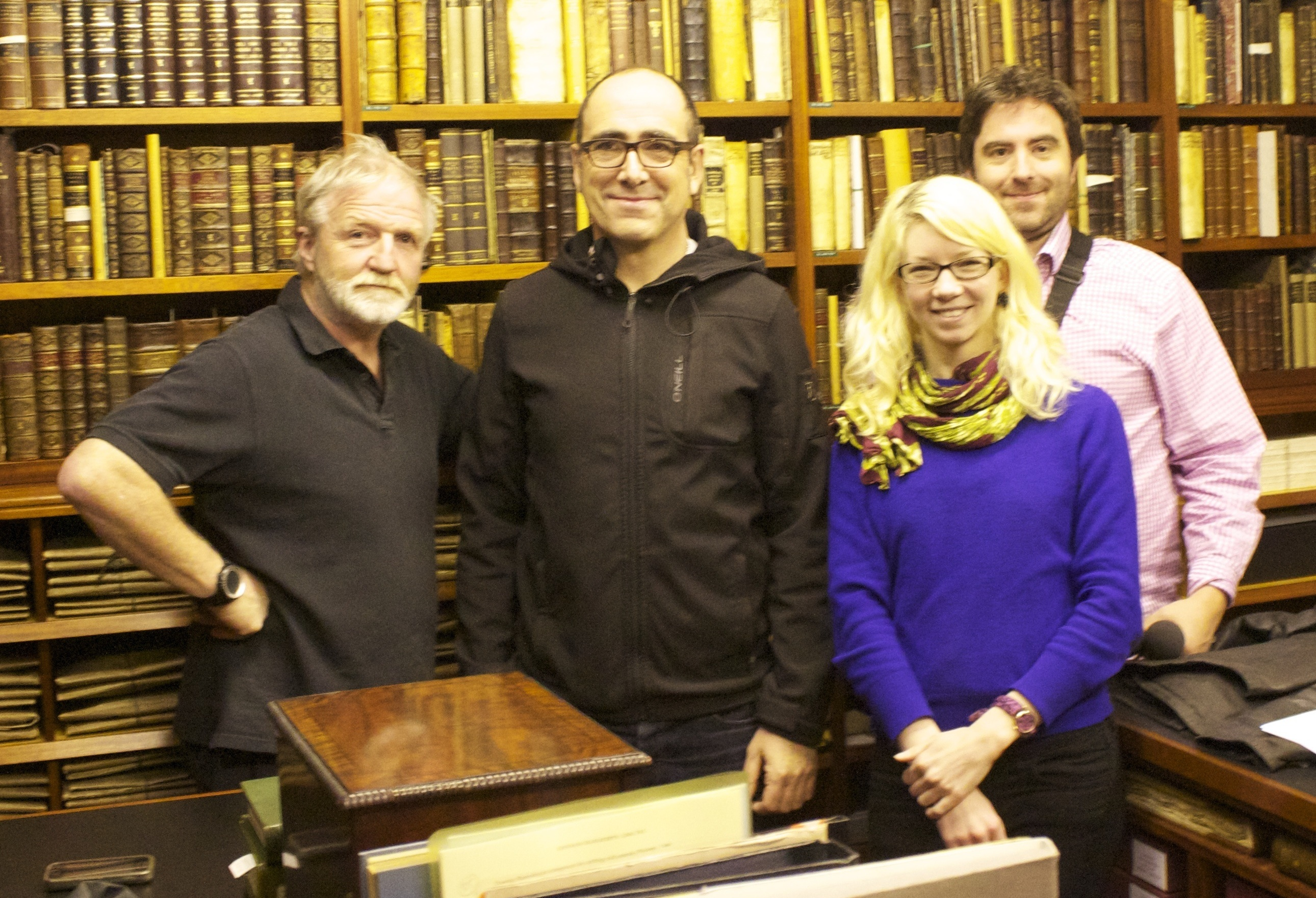 Team Insect (L-R - Dr. George McGavin, Ian Parkinson, Andrea Rangecroft, Micky Curling)