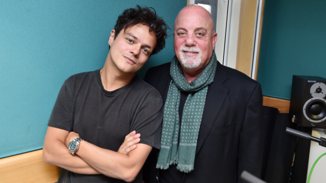 Jamie and Billy Joel on BBC Radio 2