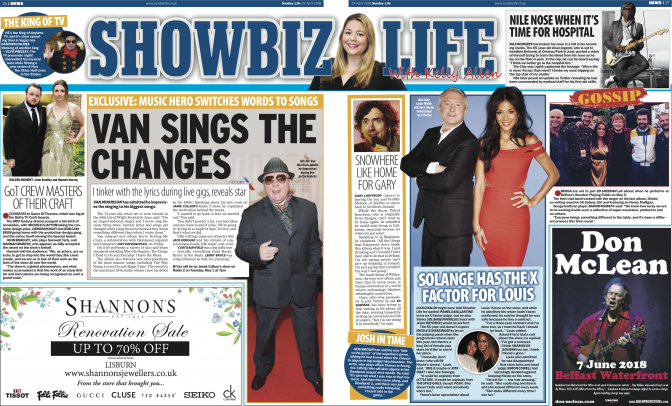 Jamie Cullum's Interview with Van Morrison in Sunday Life Magazine