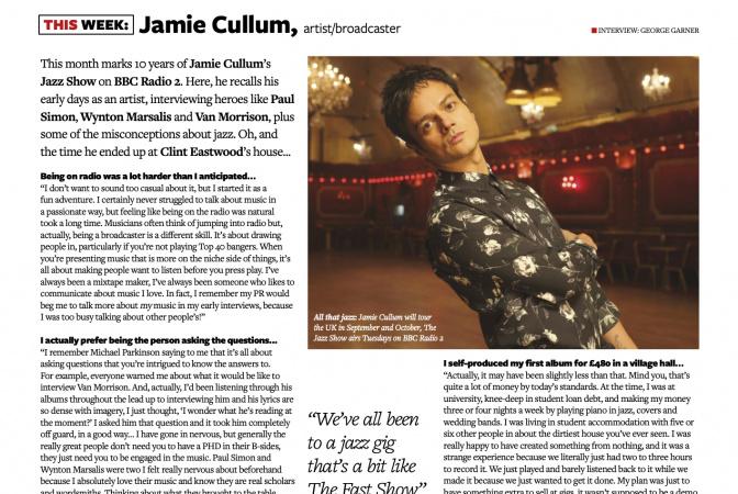 Jamie Cullum in Music Week